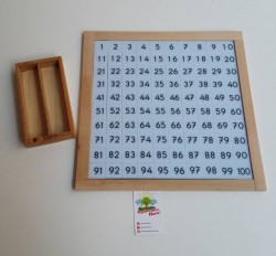 Oyuncakci Anne - Montessori Materyalleri - Montessori Hundred Board - 100'lük Tepsi
