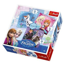 Trefl - Disney Frozen Puzzle 3in1 Frozen Land Heroes