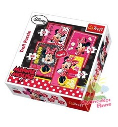 Trefl - Disney Minnie 4'Lü Puzzle