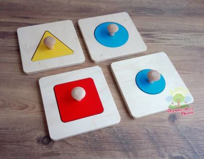 Montessori Toddler Tekli Puzzle